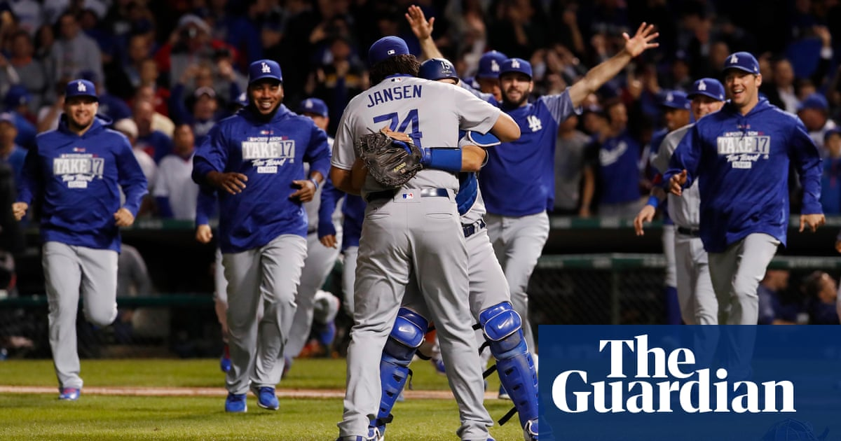 sports shoes 54aa8 f08ed LA Dodgers trounce Chicago Cubs to reach first World Series ...