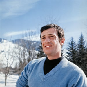 Jean-Paul Belmondo on a winter holiday in France in the 1960s