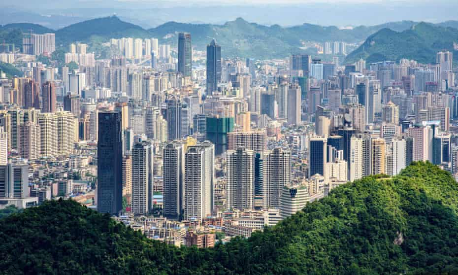 Guiyang, the capital of south-west China's Guizhou province.