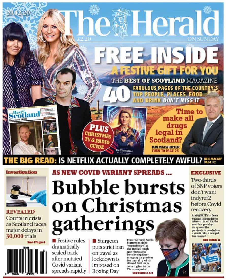 The Herald on Sunday, 20 December 2020