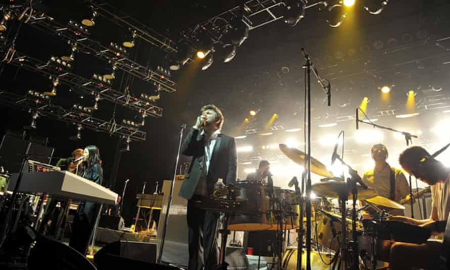 LCD Soundsystem at Madison Square Garden in 2011.