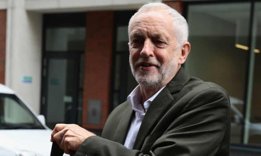 Jeremy Corbyn arrives at the NEC meeting to discuss the party's antisemitism definition.