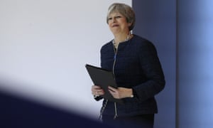 Theresa May at the World Economic Forum in Davos, Switzerland, 25 January 2018.