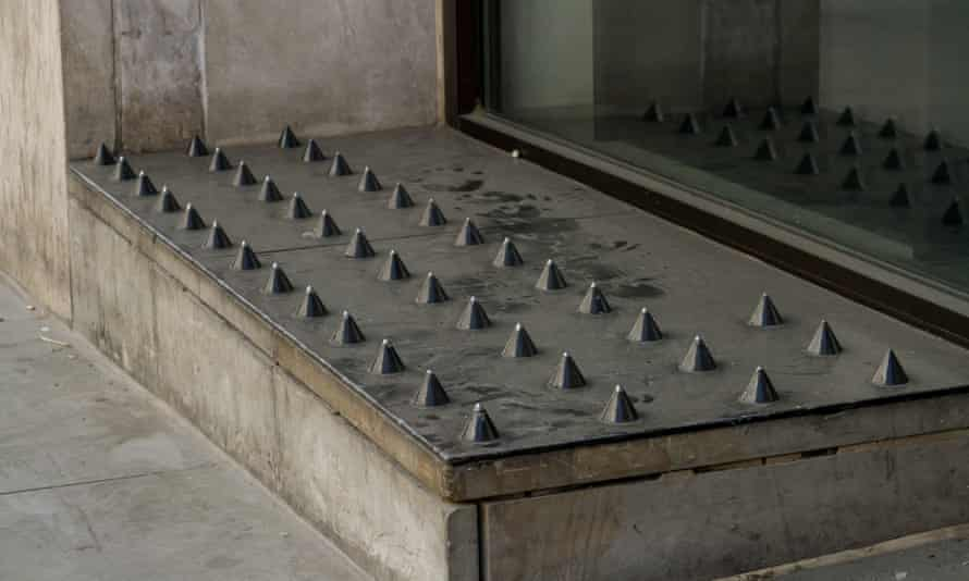 Anti-homeless spikes in London