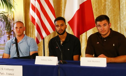 Anthony Sadler, Alek Skarlatos and Spencer Stone