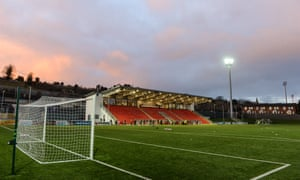 Derry City's Brandywell Stadium, pictured last March.