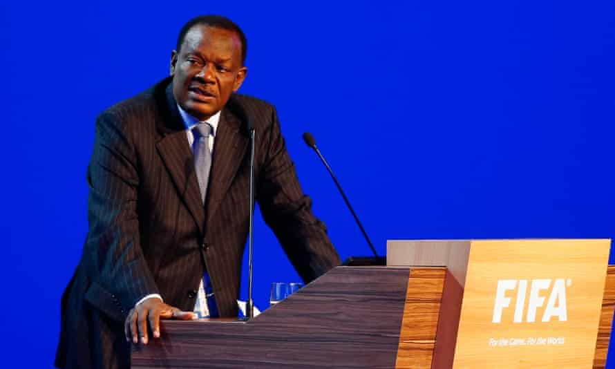 Yves Jean-Bart speaking at the Fifa Congress in Brazil in June 2014.