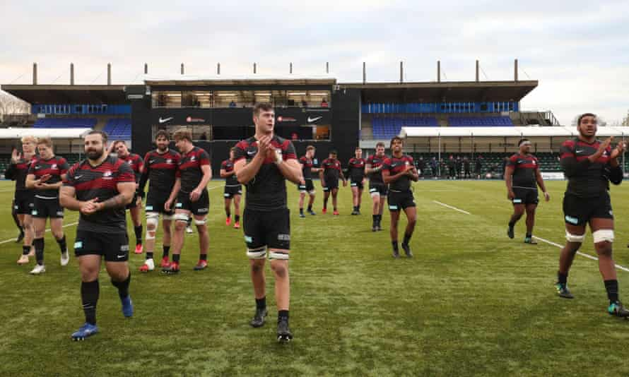 Saracens, pictured after a friendly against a Leicester XV last month, were relegated last season after failing to adhere to the Premiership's salary cap.