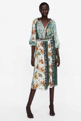 Patchwork print dress, £69.99, Zara