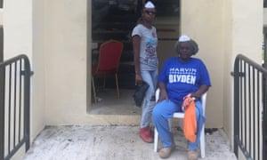 Velma Samuel and Tamika Francis at the Tutu Hi_rise public housing buildings.
