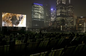 Opening night for the Curtin Cinema, an open air rooftop cinema in Melbourne