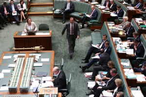 Special minister of State Mal Brough during question time in the House of Representatives in Canberra this afternoon, Friday 30th November 2015