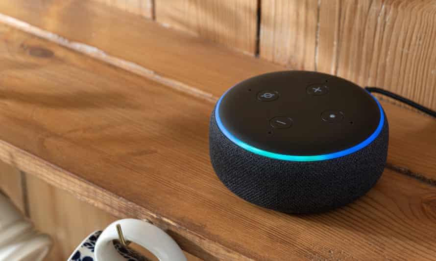 Amazon Echo dot speaker.