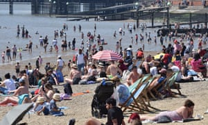 People on the beach at Southend