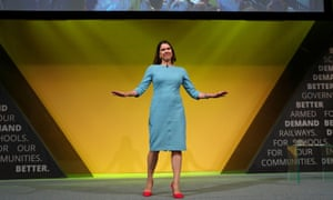 Lib Dem leader Jo Swinson speaking at the party's annual conference in Bournemouth