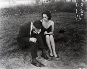 Marcello Mastroianni and Jeanne Moreau in La Notte, 1960
