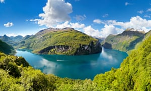 View of Geiranger fjord in Norway