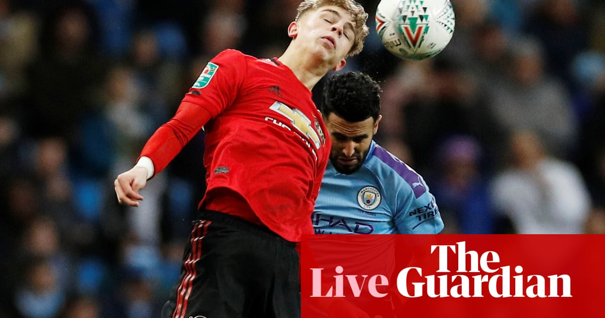 Manchester City v Manchester United: Carabao Cup semi-final, second leg – live!