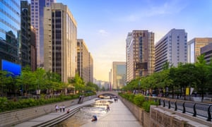 Cheonggyecheon Stream in Seoul