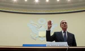 Robert Mueller testifies at a House intelligence committee hearing on his report in July.