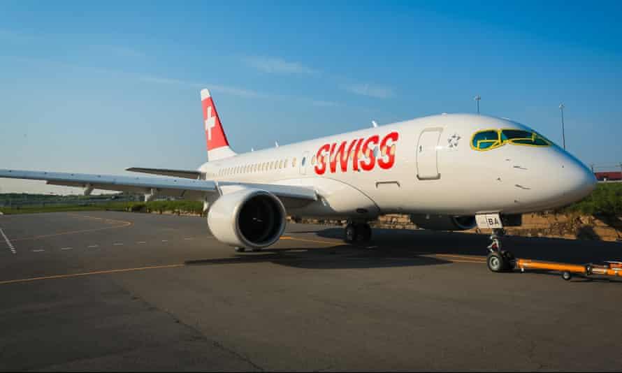 Swiss International Air Lines' Bombardier CS100 at Zurich.