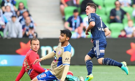 Marco Rojas's double sends Victory to second in A-League