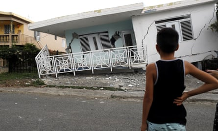 A damaged house on the coast of Guánica, a municipality in the southwest of Puerto Rico.