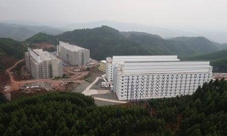 Yangxiang's high-rise pig buildings at Yaji mountain