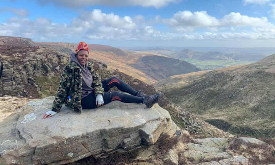 Cherelle Harding of Steppers UK, which promotes diversity outdoors, Edale, Peak district. Steppers UK.