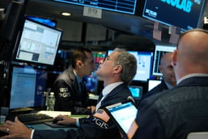 Traders of the floor of the New York Stock Exchange (NYSE)