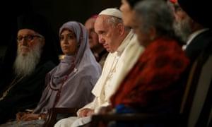Pope Francis multi-faith service