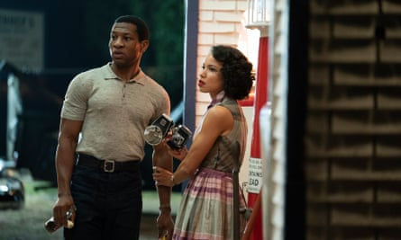 Jonathan Majors and Jurnee Smollett in Lovecraft Country.