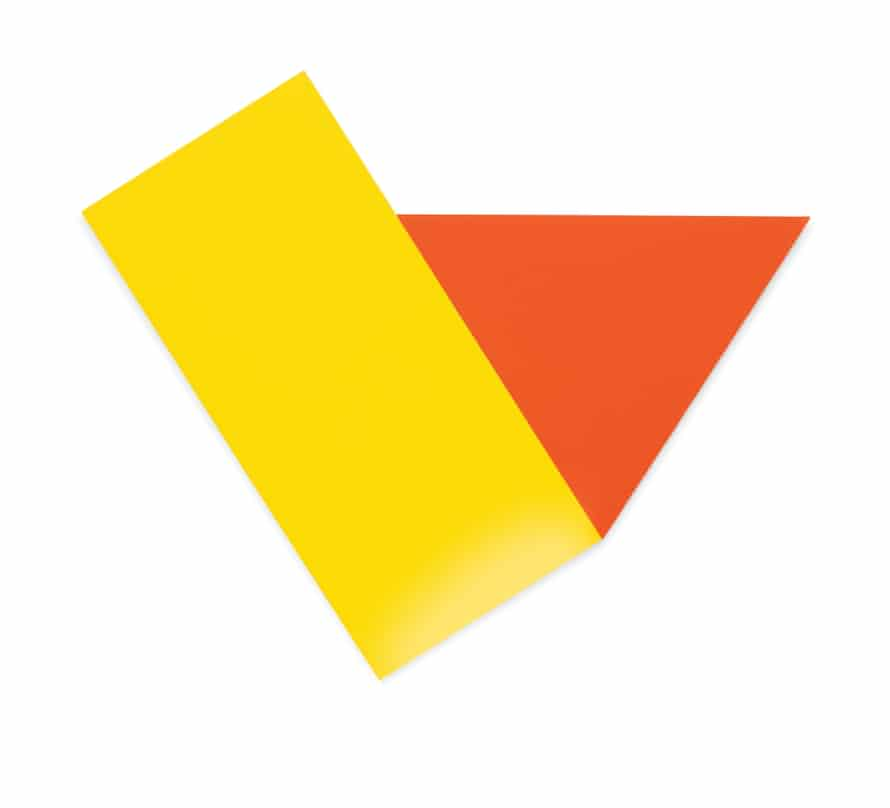 Ellsworth Kelly: Yellow with Red Triangle, (1973).