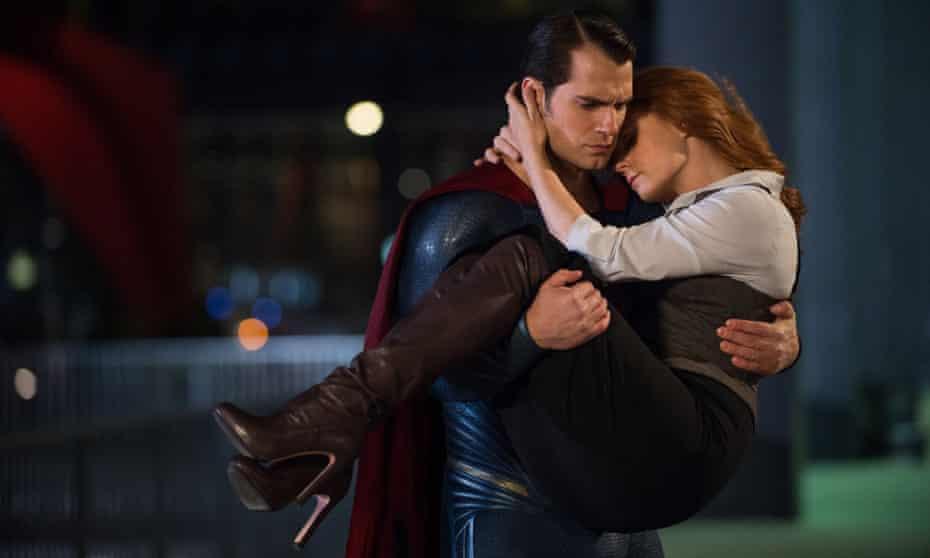Henry Cavill and Amy Adams in Batman v Superman.