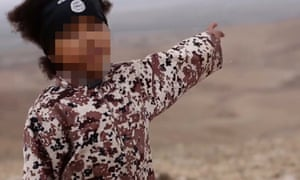 Screengrab from a video purporting to be Isis showing a young boy making threats to kill.