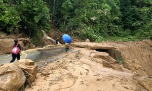 A deadly landslide in a remote area of Manipur, north-east India, following heavy rains