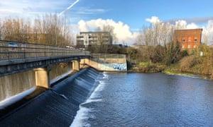 A weir on River Tone, Taunton