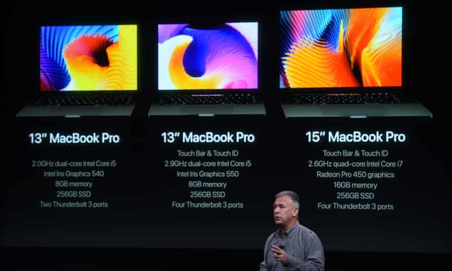 Senior Vice President of Worldwide Marketing Phil Schiller speaks during a product launch event at Apple headquarters in Cupertino, California on October 27, 2016.