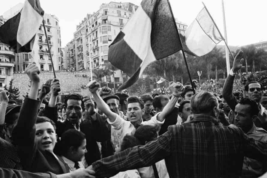 Demonstration in Algiers for French Algeria, April 1958.
