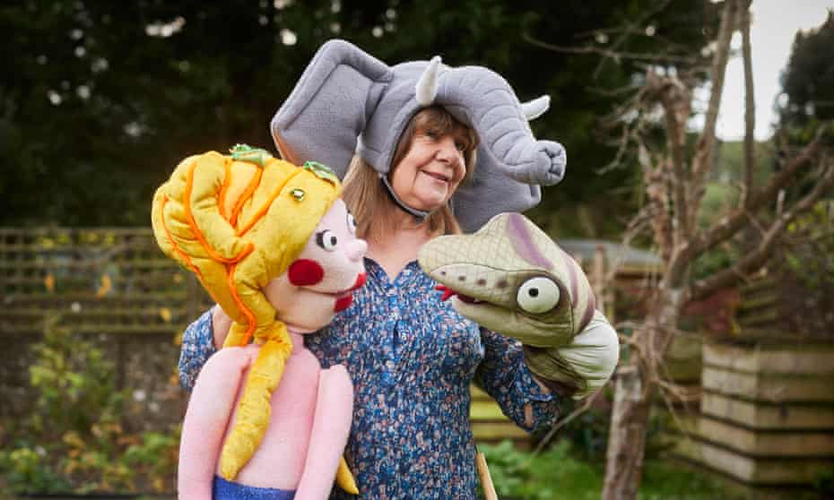 Donaldson with the Singing Mermaid, and Snake from The Gruffalo.