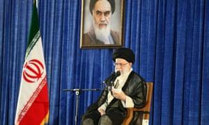 Iranian supreme leader Ayatollah Ali Khamanei in Tehran.