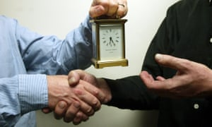 Golden handshake, a retirement or leaving present of a carriage clock