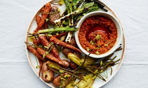 Anna Jones's romesco sauce with griddled vegetables