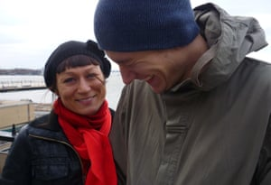 Carolina Setterwall with her partner Aksel, who died at the age of 34