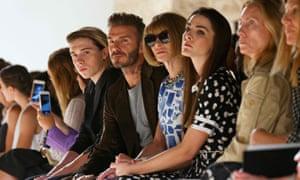Brooklyn and David Beckham, Anna Wintour and Bee Shaffer.