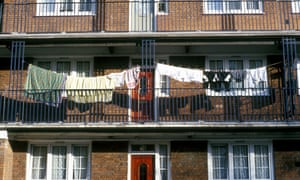 Council housing in Limehouse, east London.