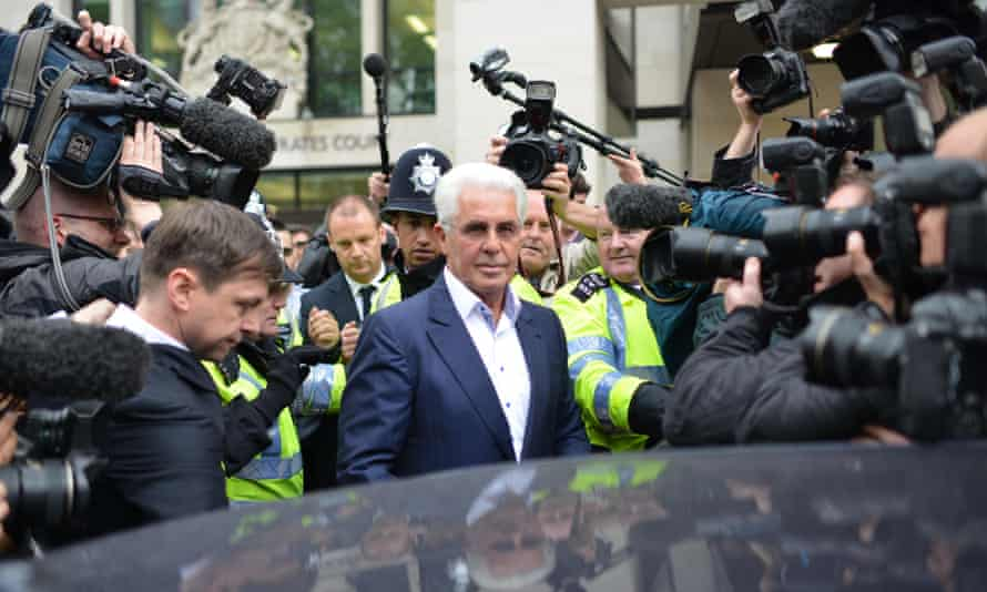 Max Clifford outside Westminster magistrates' court in 2013.