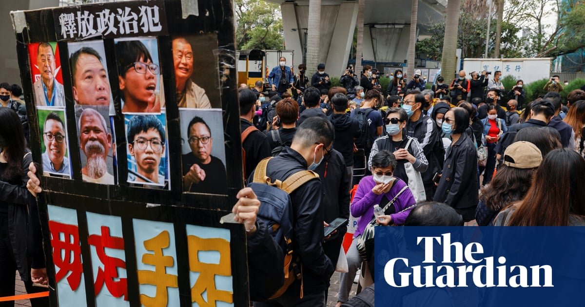 Protesters swamp Hong Kong court after pro-democracy figures charged