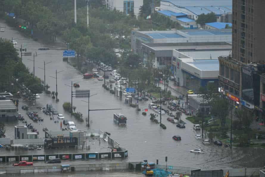 Flooding in Zhengzhou.