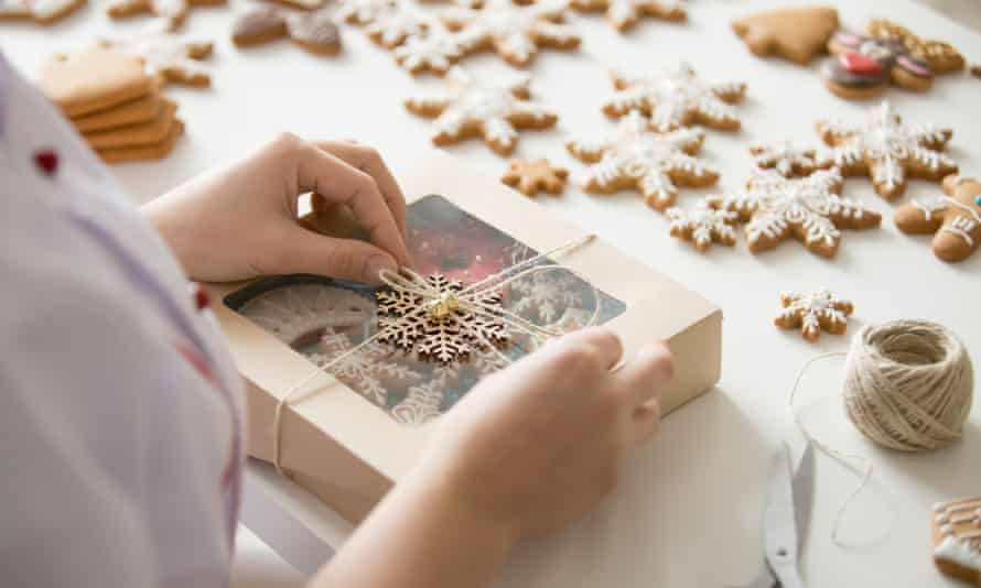 Homemade gingerbread makes a perfect gift.